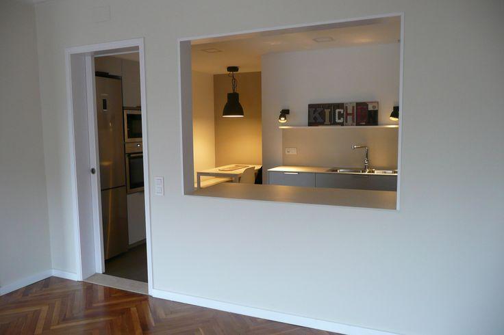 Maneras de dividir espacios construcci n de viviendas y for Tabla de la barra de la cocina de separacion
