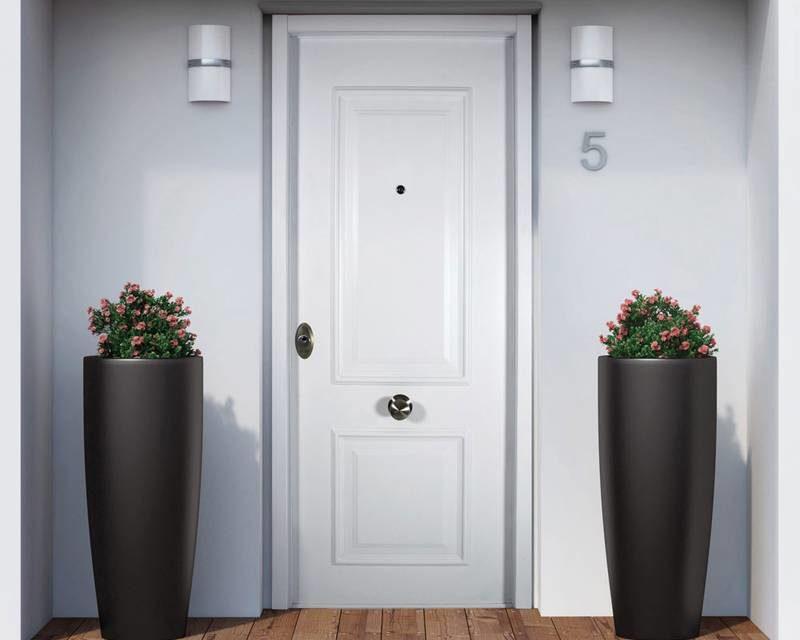 Puertas metalicas de entrada excellent puertas metlicas for Modelos de puertas metalicas para viviendas